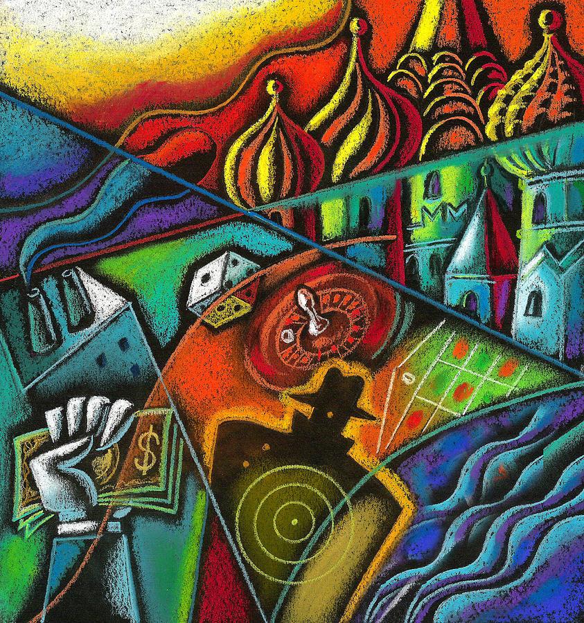 Russian Roulette   Painting by Leon Zernitsky