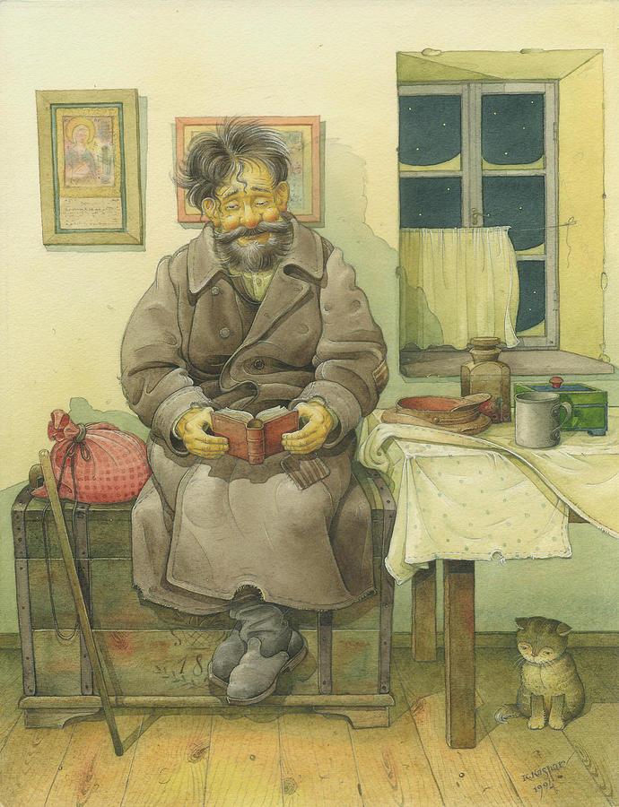 Russian Scene 03 Painting by Kestutis Kasparavicius