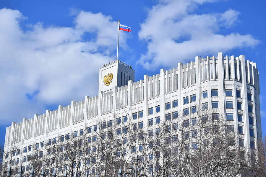 Moscow Photograph - Russian White House by Steven Liveoak