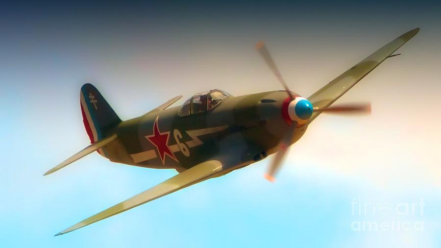 Airplane Photograph - Russian Yak No.6  2011 Chino Air Show by Gus McCrea
