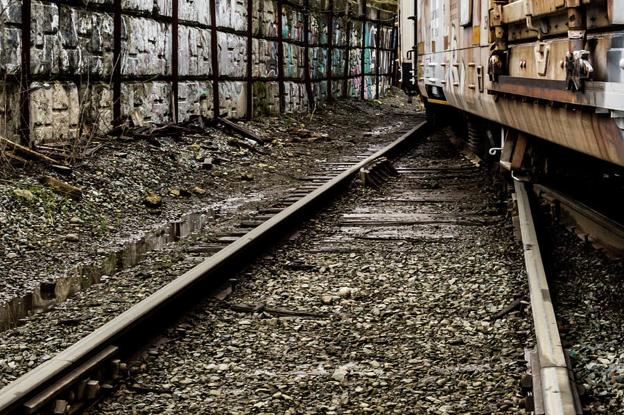 Rust and Rails #9396 by Pamela S Eaton-Ford