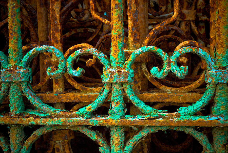 Rust Photograph - Rusted Gates by Craig Perry-Ollila