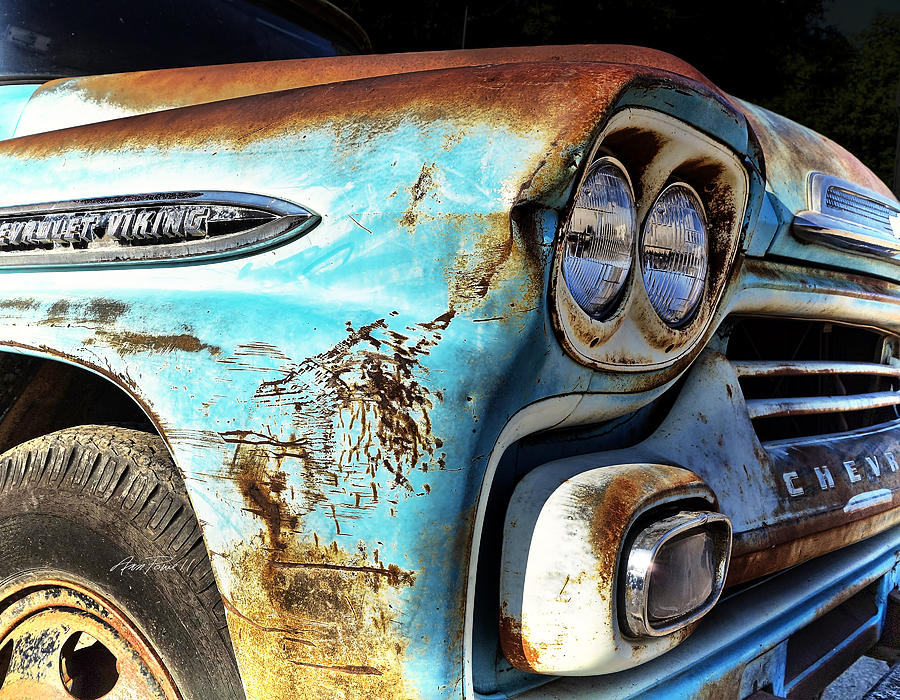 Rusted Old Chevy Truck - Photography Photograph by Ann Powell