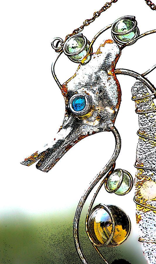 Seahorse Photograph - Rusted Seahorse 2 by Frank Mari