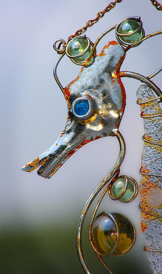 Seahorse Photograph - Rusted Seahorse by Frank Mari