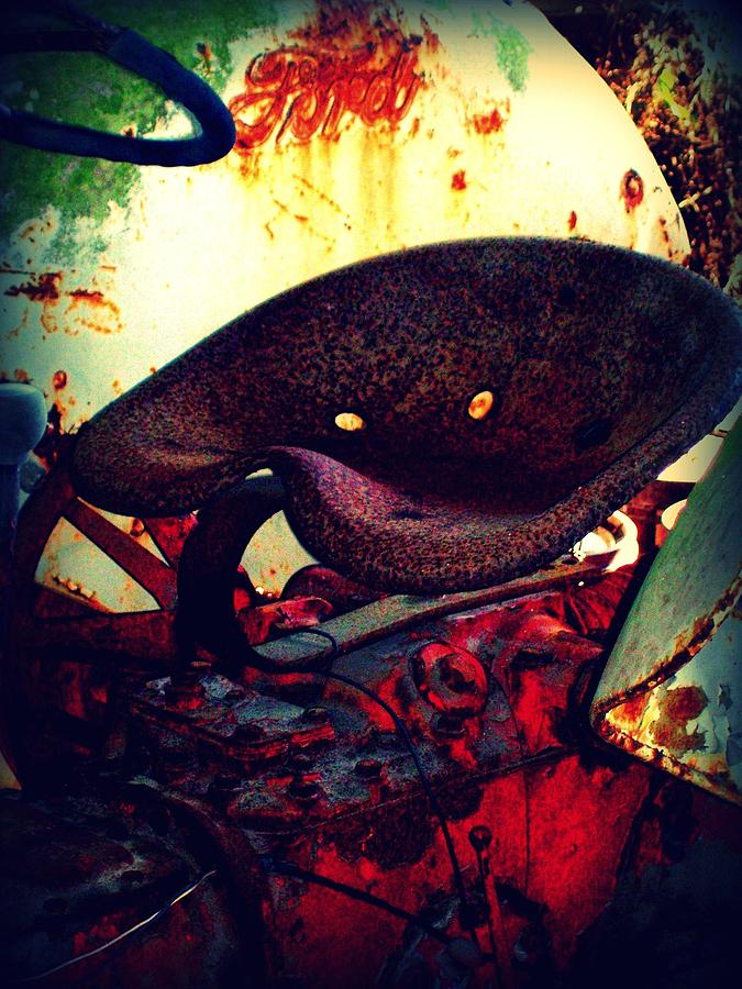 Tractor Photograph - Rusted Seat by Dana Blalock