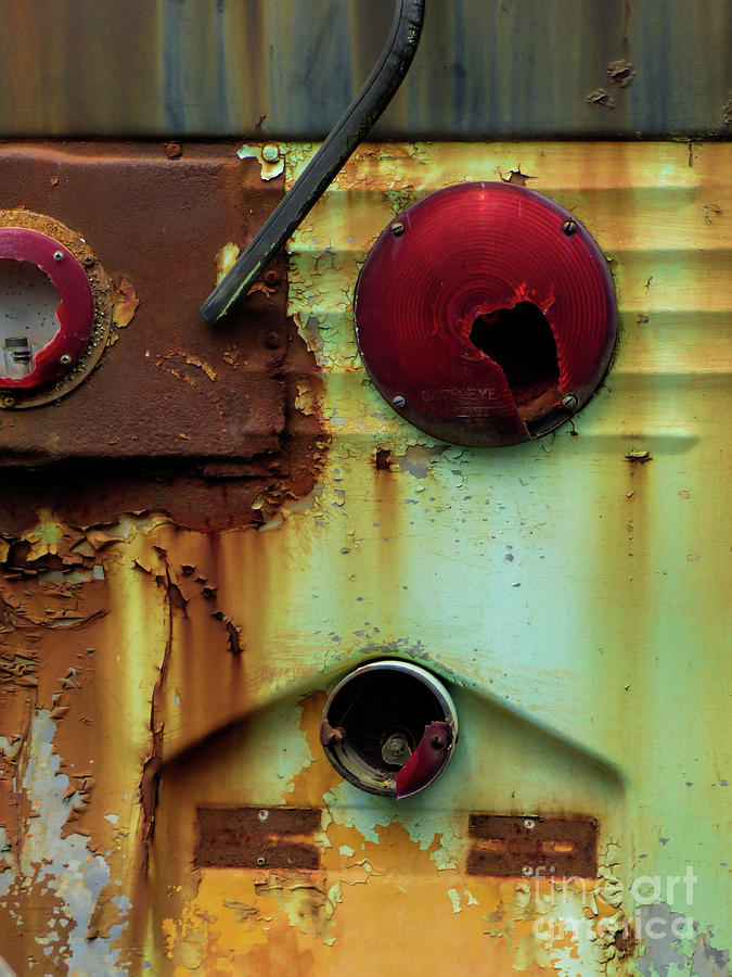 Old Buses Photograph - Rusted Series 5 by Laura Atkinson