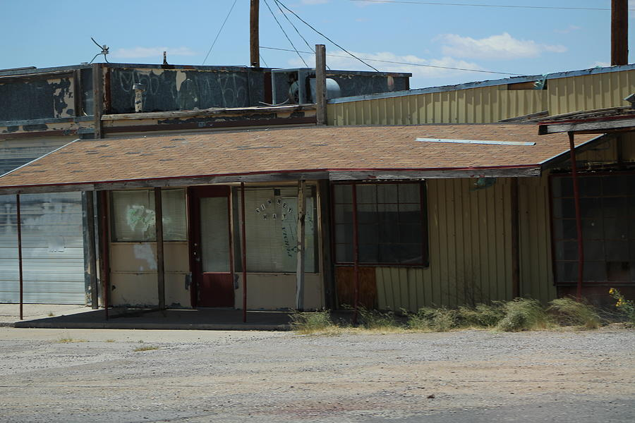 Abandoned Building Photograph - Rustic Abandoned Building on the Road in New Mexico by Colleen Cornelius