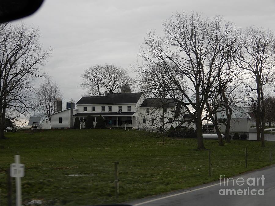 Amish Photograph - Rustic Amish Farmstead by Christine Clark