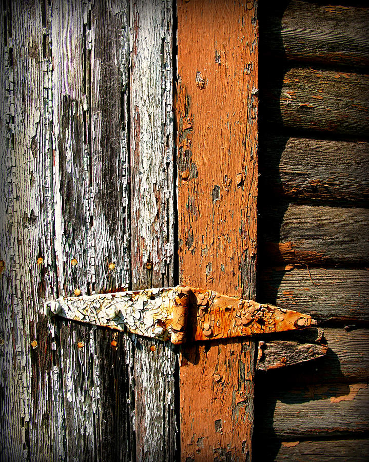 Rust Photograph - Rustic Barn Hinge by Perry Webster