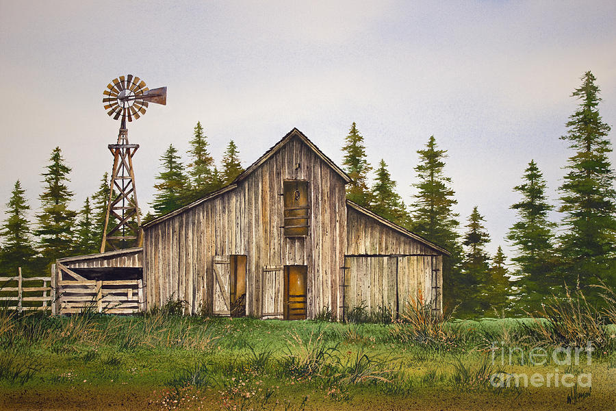 Rustic Barn Painting By James Williamson