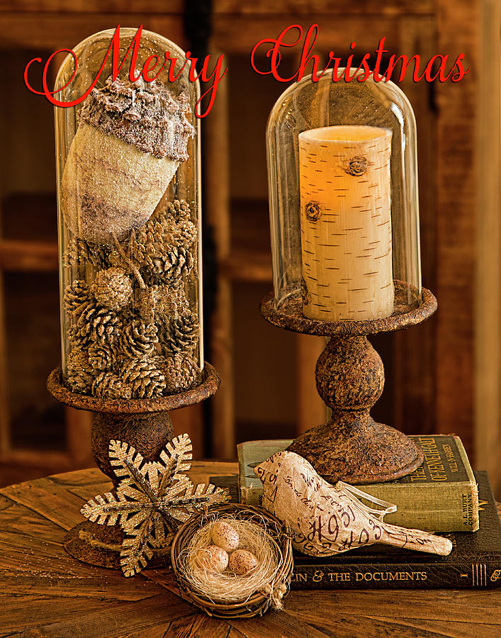 Rustic Christmas Card by Patricia Montgomery