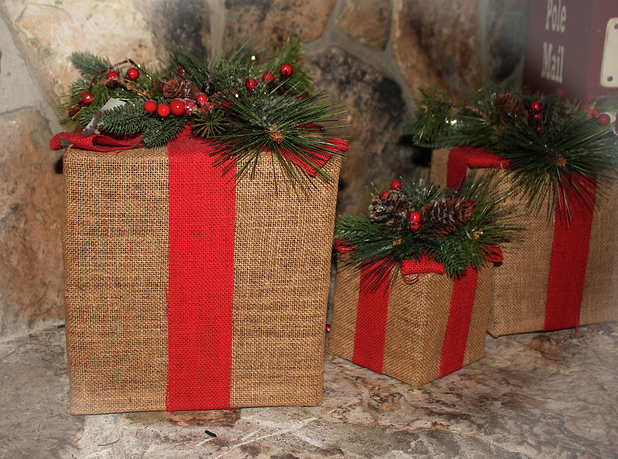 Rustic Christmas Gifts Photograph by Cynthia Guinn