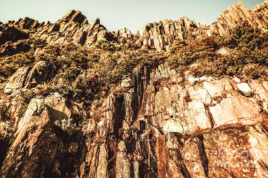 Rock Photograph - Rustic Cliff Spring by Jorgo Photography - Wall Art Gallery