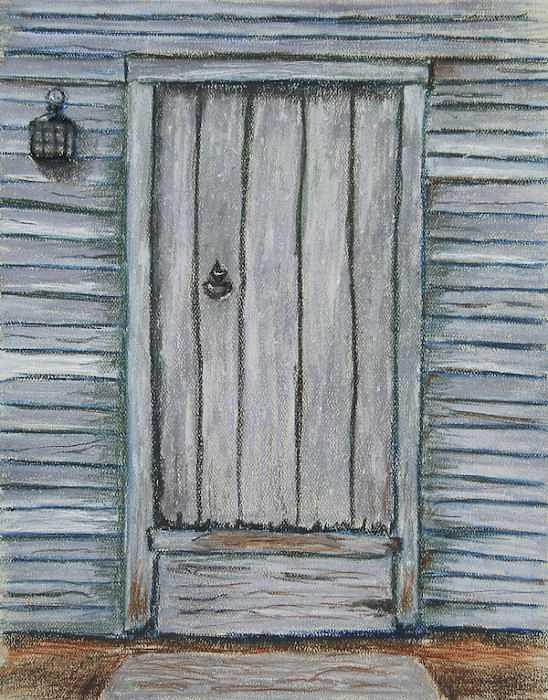 Pastel Pastel - Rustic Door by Marina Garrison