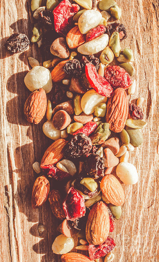 Rustic Photograph - Rustic Dried Fruit And Nut Mix by Jorgo Photography - Wall Art Gallery