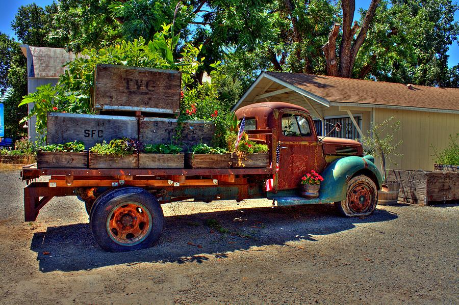 Rustic Flower Truck Photograph By Randy Wehner Photography