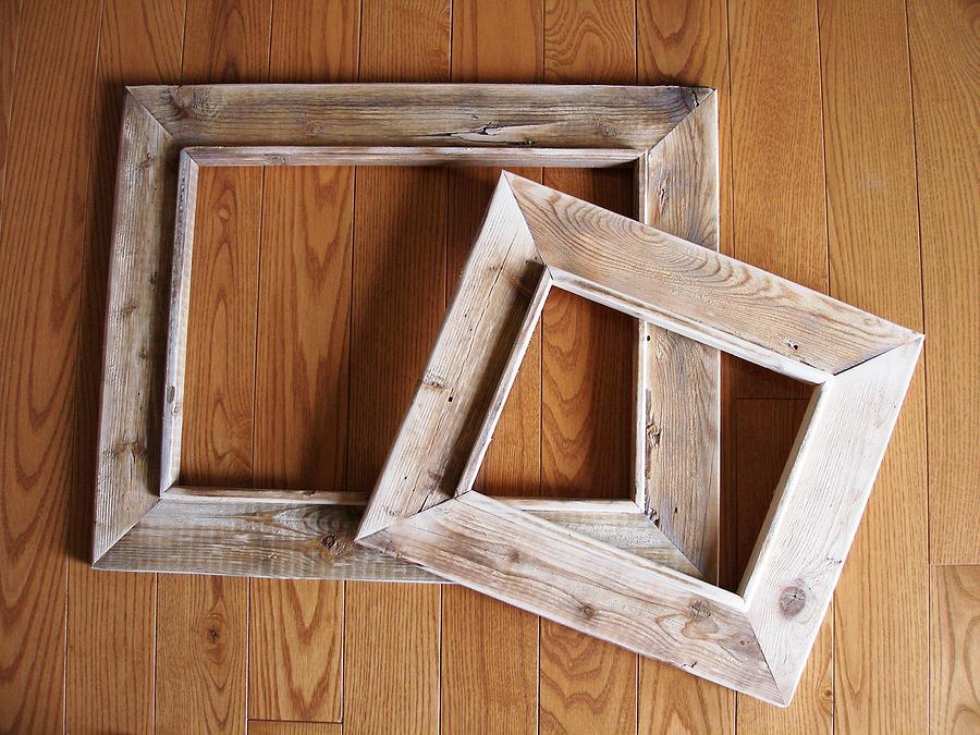 frames sculpture rustic frames reclaimed by rod skramstad - Diy Rustic Picture Frame