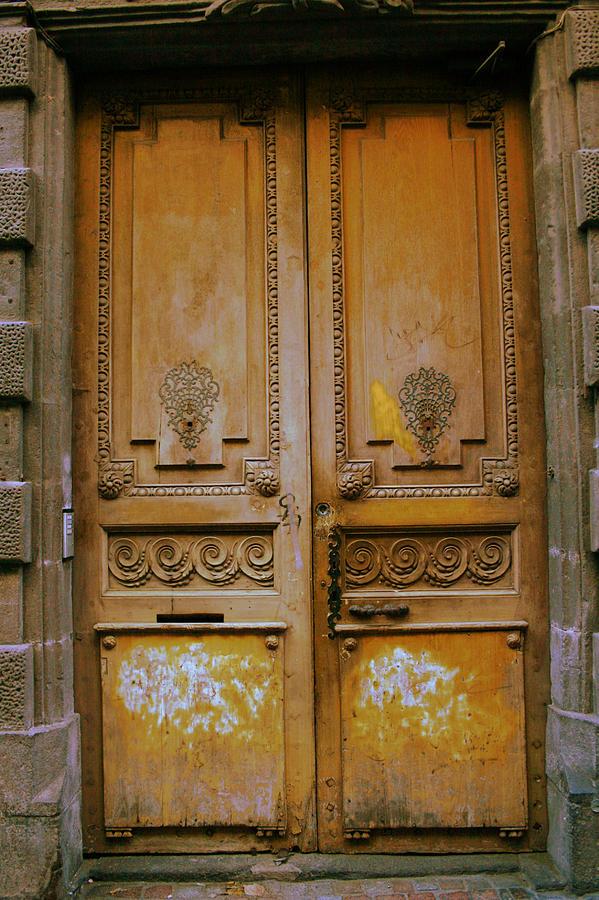 Door Photograph - Rustic French Door by Georgia Fowler