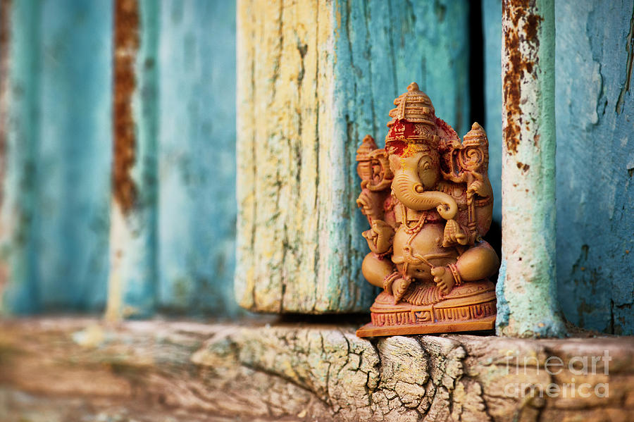 Indian Photograph - Rustic Ganesha by Tim Gainey