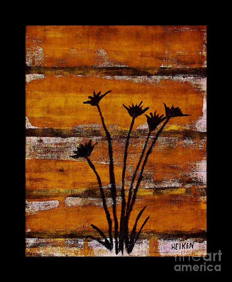 Framed Painting - Rustic Log Cabin by Marsha Heiken