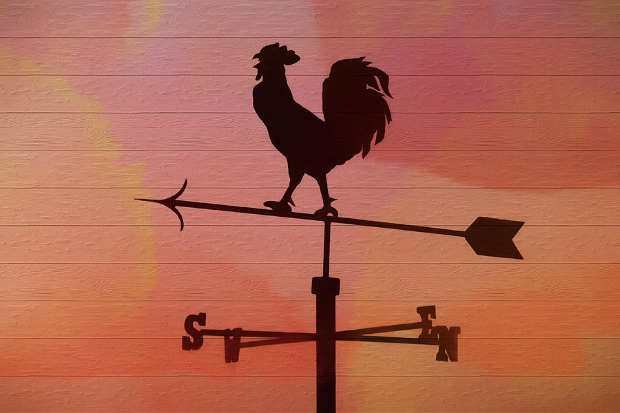 Rustic Red Rooster Weather Vane