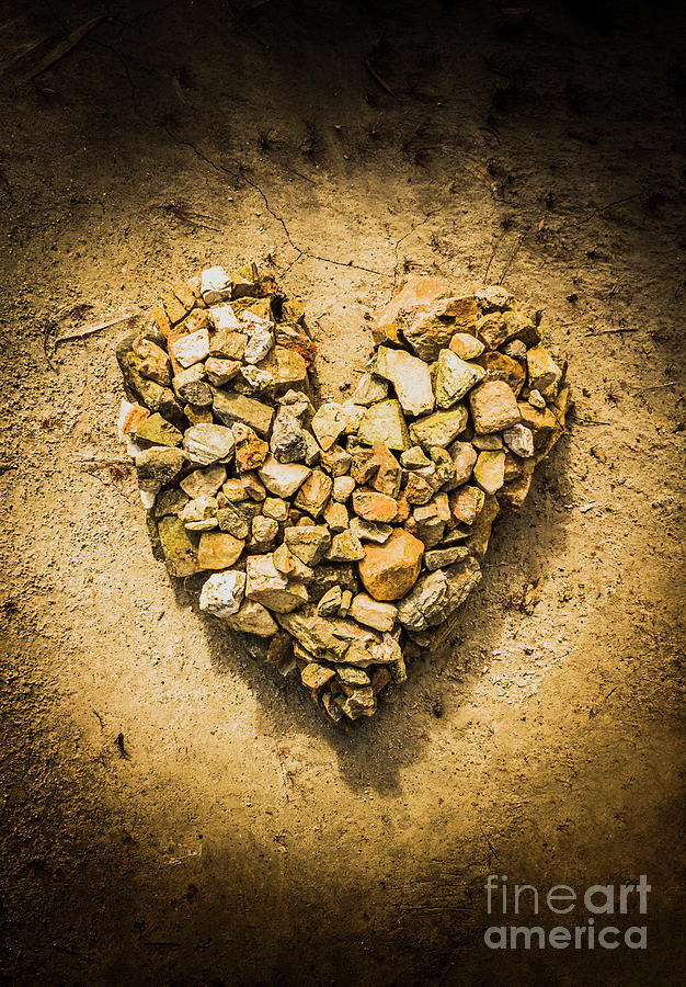 Love Photograph - Rustic Rock Romance by Jorgo Photography - Wall Art Gallery