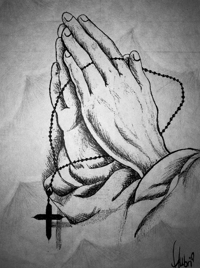 Rustic Rosary Drawing By Aubrianna Wockenfuss