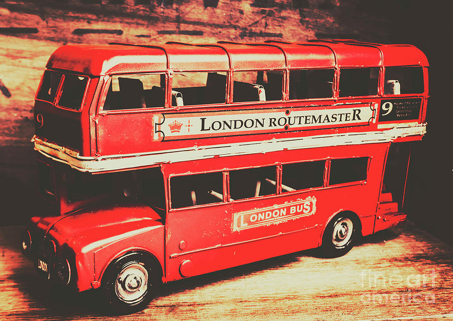 England Photograph - Rustic Routemaster by Jorgo Photography - Wall Art Gallery