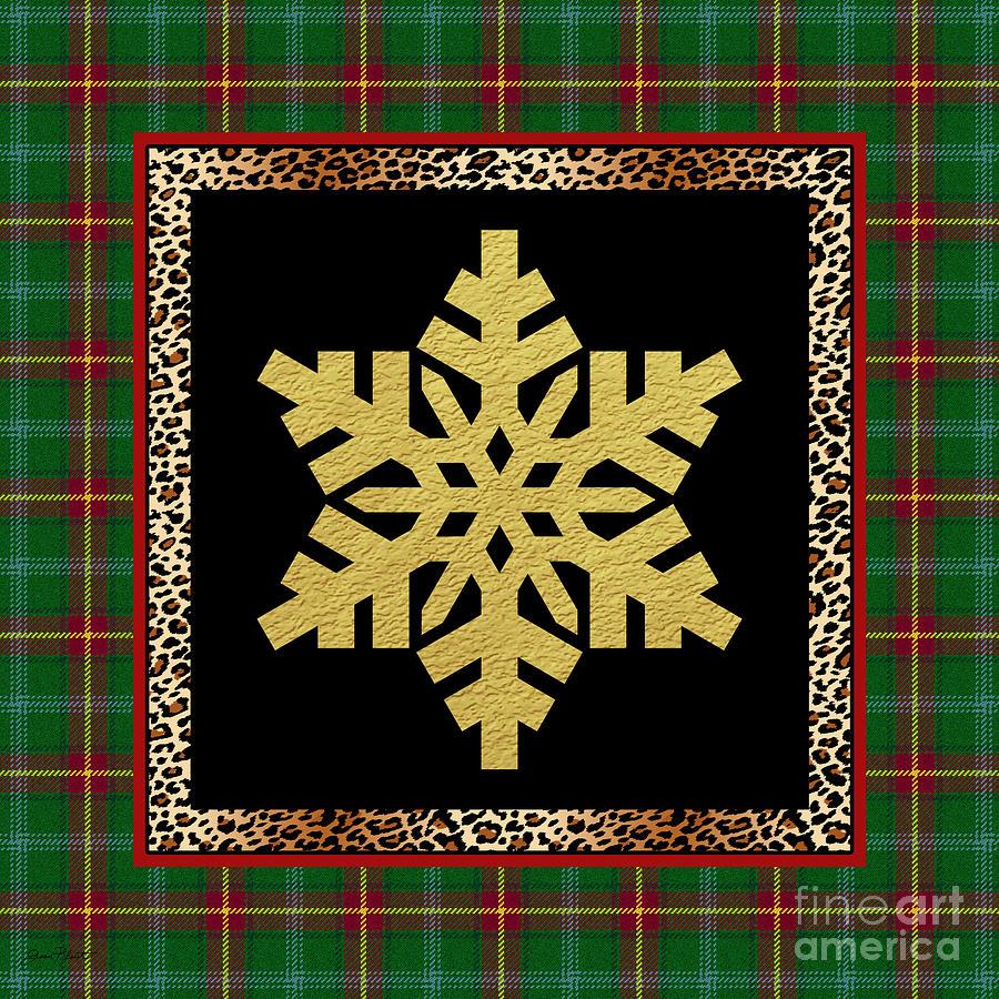 Jjean Plout Painting - Rustic Snowflake-jp3689 by Jean Plout