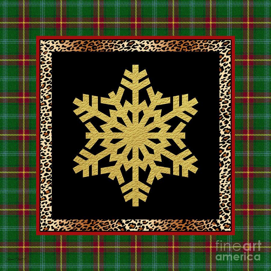Jjean Plout Painting - Rustic Snowflake-jp3692 by Jean Plout