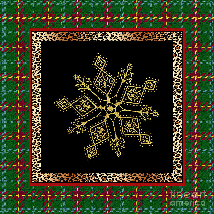 Jean Plout Painting - Rustic Snowflake-jp3696 by Jean Plout