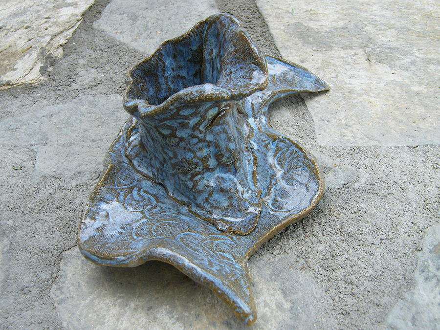Ceramics Ceramic Art - Rustic Vase Asea by Margaret G Calenda