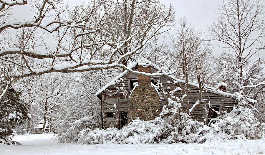 Rustic Winter Cabin Photograph By Benanne Stiens