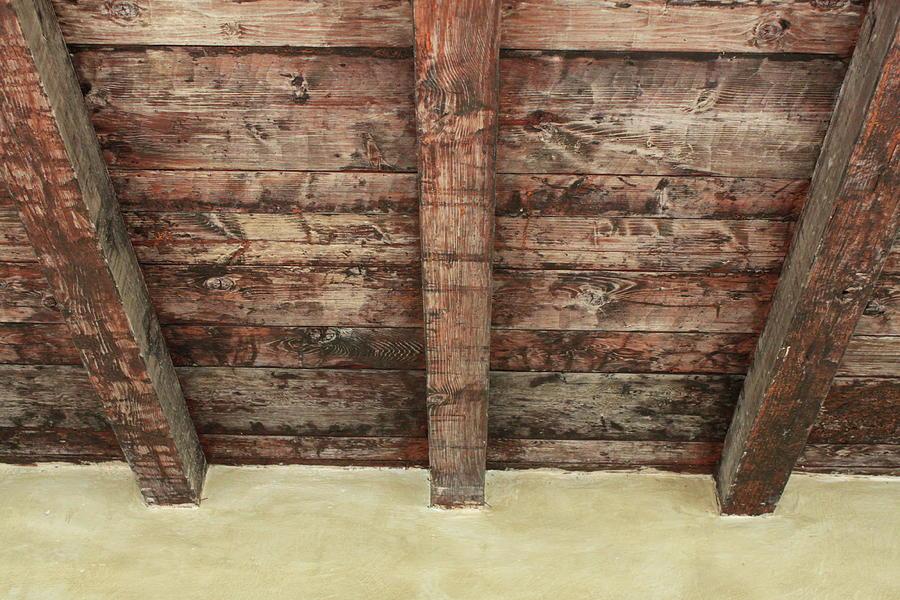 Wood Beams Photograph - Rustic Wood Beams by Rose Webber Hawke