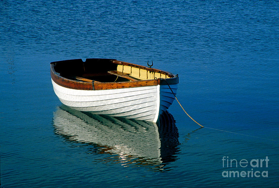 Rustic Wooden Row Boat Photograph By John Greim