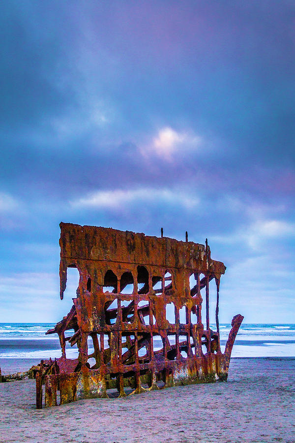 Rusty Photograph - Rusting Peter Iredale by Garry Gay