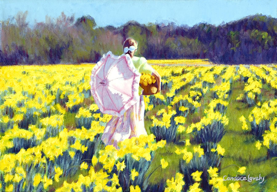 Daffodil Painting - Rustling The Daffodils by Candace Lovely
