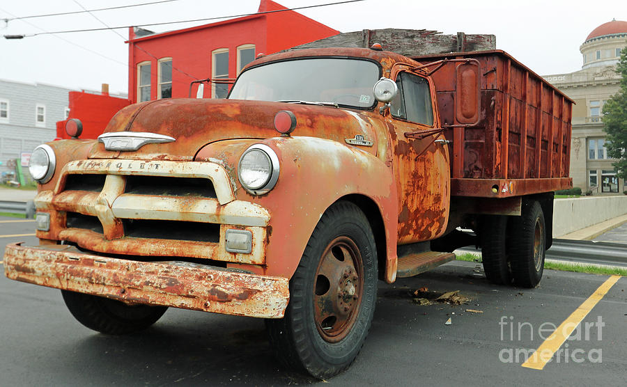 Rusty 1954 Chevy Truck Model 6100 Photograph By Steve Gass