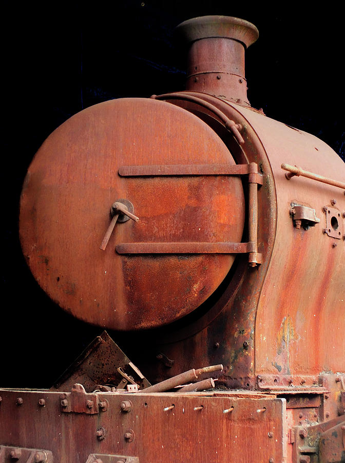 Locomotive Photograph - Rusty Abandoned Steam Locomotive by Philip Openshaw
