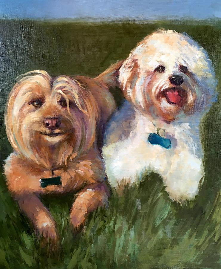 Rusty And Patches Painting by Cynthia Mozingo