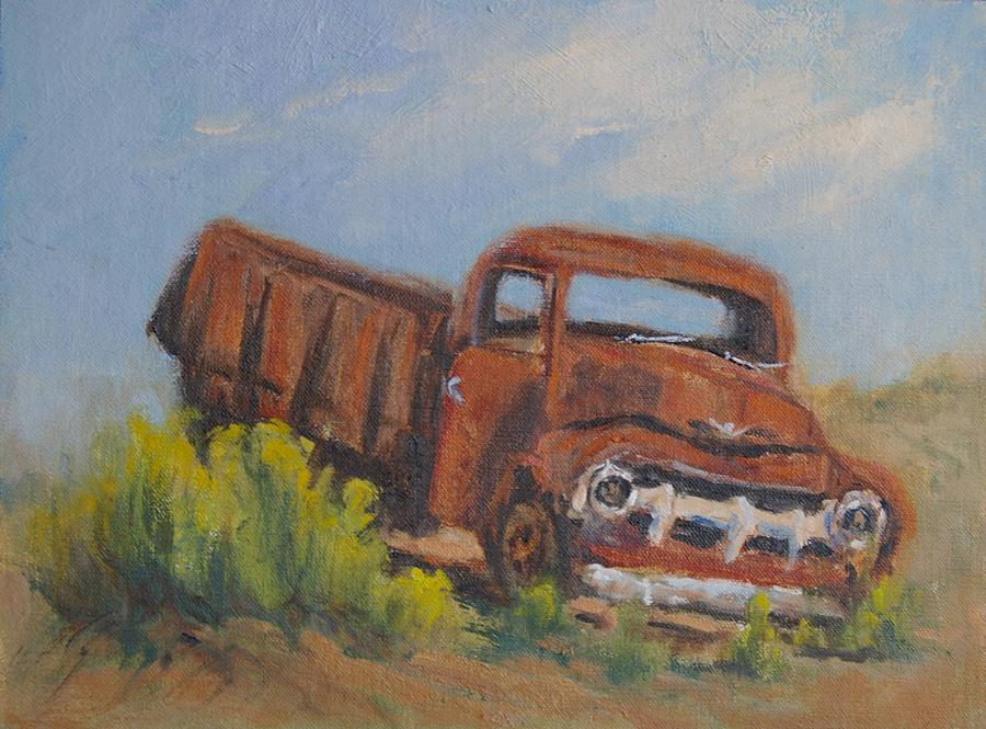 Trucks Painting - Rusty And Retired by Marla Smith