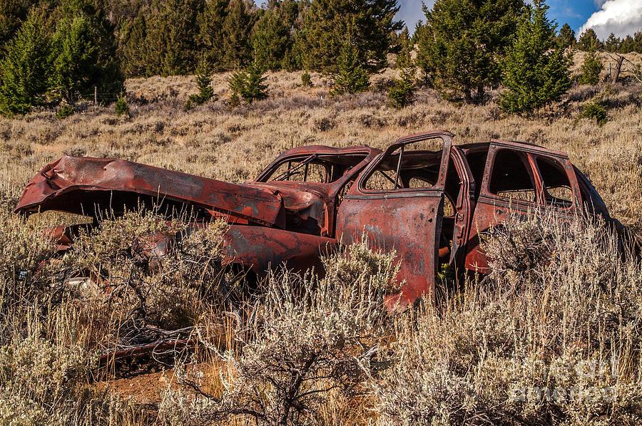 Auto Photograph - Rusty Automobile by Sue Smith