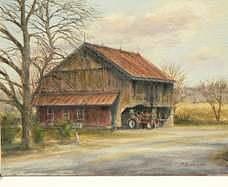 Rusty Barn Painting by Rober Milinowski