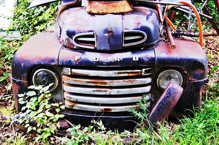 Ford Photograph - Rusty Blue by Jame Hayes