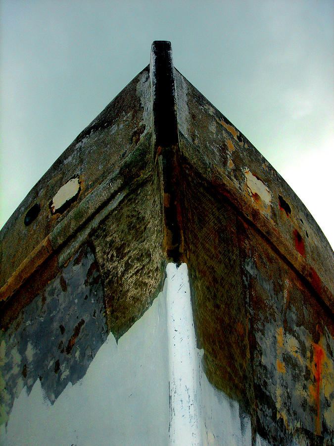 Boat Photograph - Rusty Bow by Susanne Van Hulst