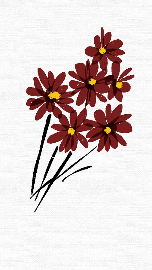 Flowers Painting - Rusty Bunch by Gurkirat Gill