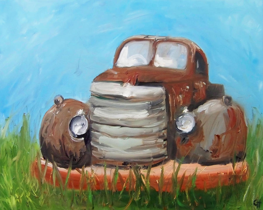 Transportation Painting - Rusty by Cari Humphry