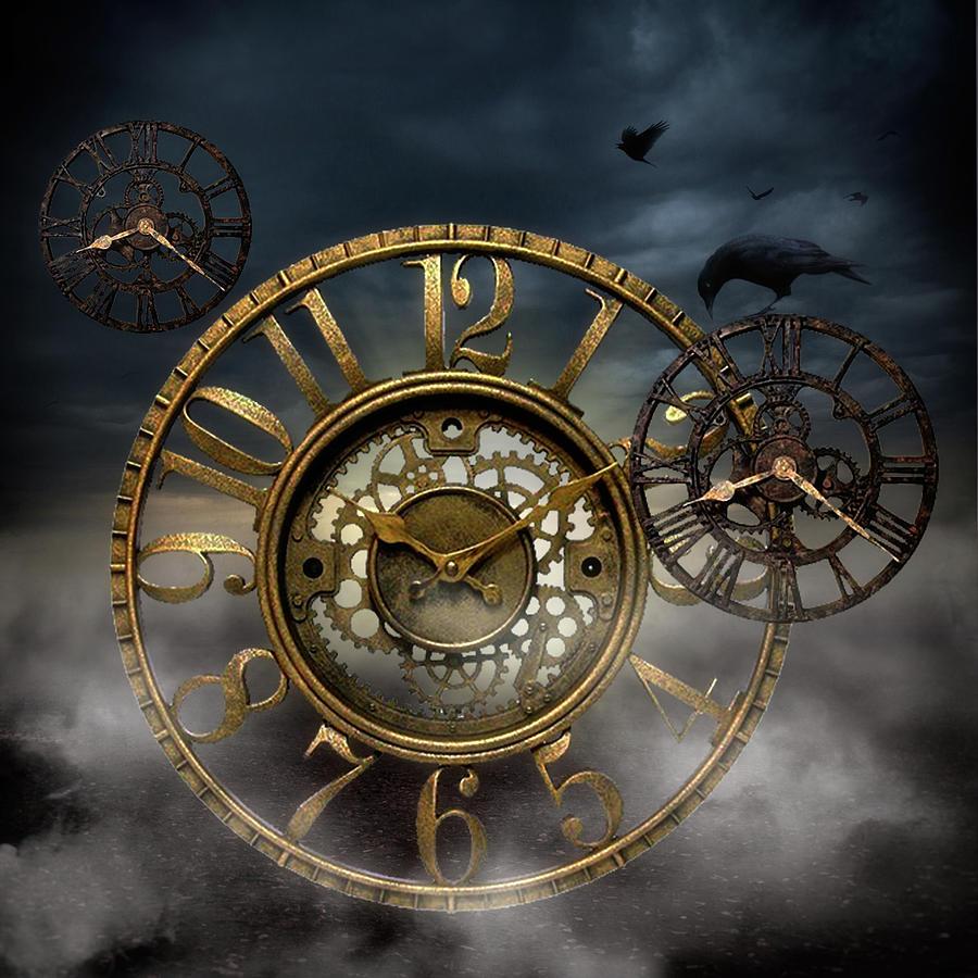 Rusty Clocks Digital Art by Liezel Schultz