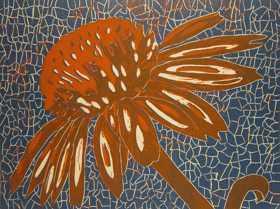 Copper Painting - Rusty Flower by Marita McVeigh